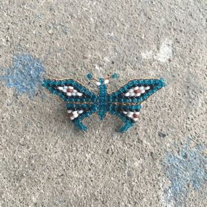 Jewelry - Vintage | Tiny Beaded Butterfly